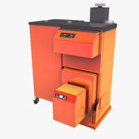 Modern Wood Chipper and Pellet Boiler
