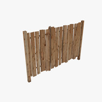 3d wood fence
