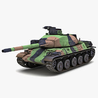 amx-32 france main battle tank 3d obj