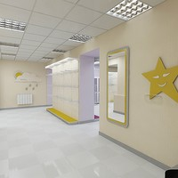 clothes shop interior 3d model