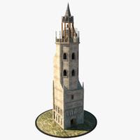 3d medieval belfry model