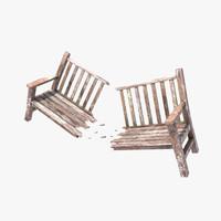 Park Bench - Broken