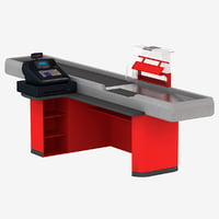 cash counter 4 3d model