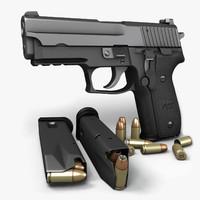 3d max sig sauer p229 pistols