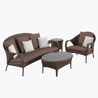 iform pancras set lounge chair 3d 3ds