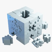 3d model jigsaw puzzle building blocks