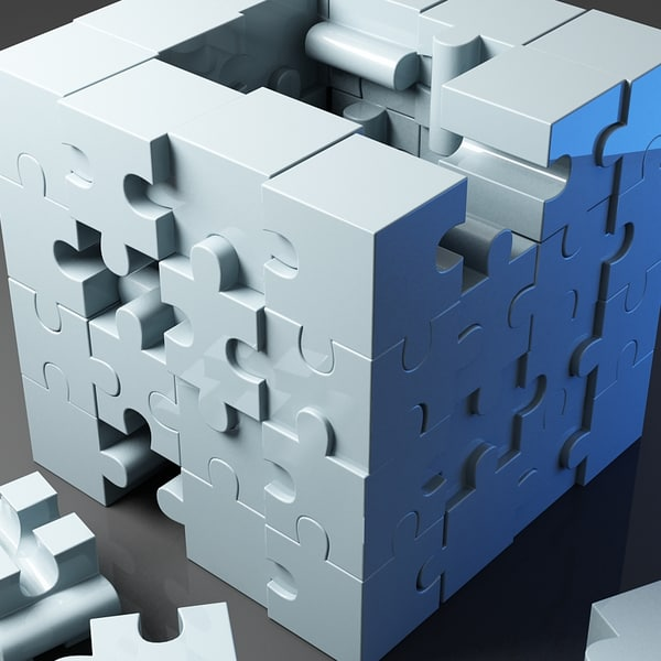 3d model jigsaw puzzle building blocks - Jigsaw Puzzle Blocks 2... by Giimann