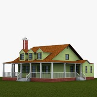 3d farmhouse building
