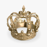 3d model gold crown