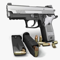 3d sig sauer p229 pistols model