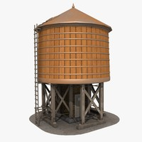 3dsmax rooftop water tank