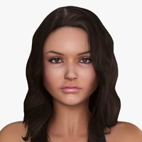 3d model american woman character allison