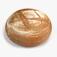 3d brown bread model