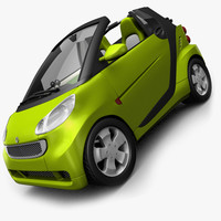 Smart Fortwo cab opened