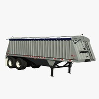 dakota 28ft grain trailer 3d lwo