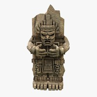 aztec stone 3d max
