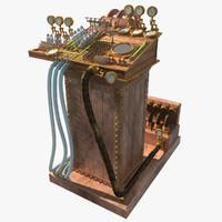 3d steampunk computer