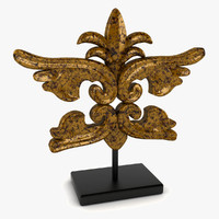 3d baroque sculpture deco model