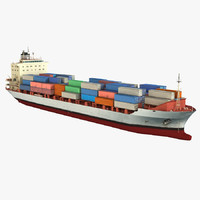 largest container cargo ship 3d ma