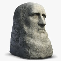 3d leonardo da vinci sculpture model