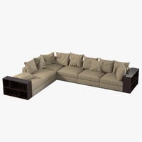 flexform groundpiece sofa 3d model