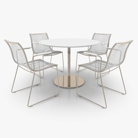 3d model filigree patio furniture set