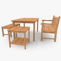 Teakwood Furniture Set 02