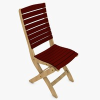 wooden chair 3d c4d
