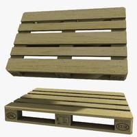 wooden pallet epal 3d 3ds