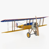 3d historic airplane