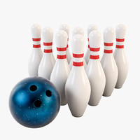 bowling ball pins max