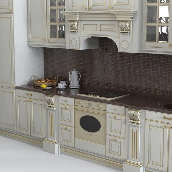 Classic Baroque Kitchen 3d Max