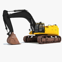excavator industrial 3d max