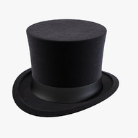 cylinder hat 3d model