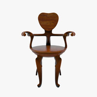 bd barcelona calvet chair 3d 3ds