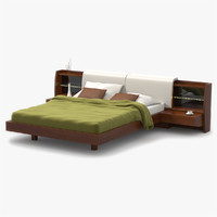 maya modern bed cherry wood