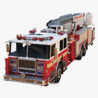 3d model seagrave ladder truck