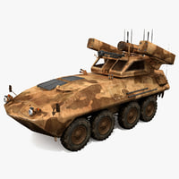 lav-ad air defense vehicle 3d model