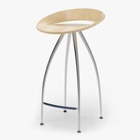lyra stool design magis 3d max