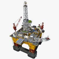 3ds max oil rig platform