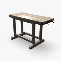 wood work bench model