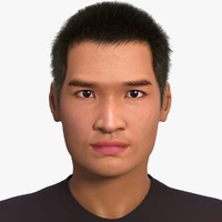 asian man jin rigging 3d c4d
