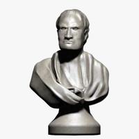 3d isaac newton bust