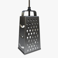 3d cheese grater pendant light model