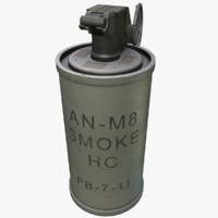 maya an-m8 smoke grenade m8