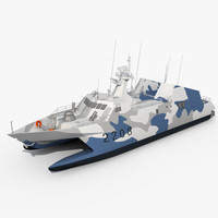3d model houbei missile ship