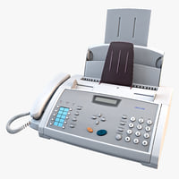 Fax Machine 3D models