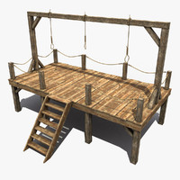 3d model medieval gallows