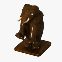 3d elephant sculpture model
