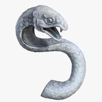 3dsmax thailand snake sculpture